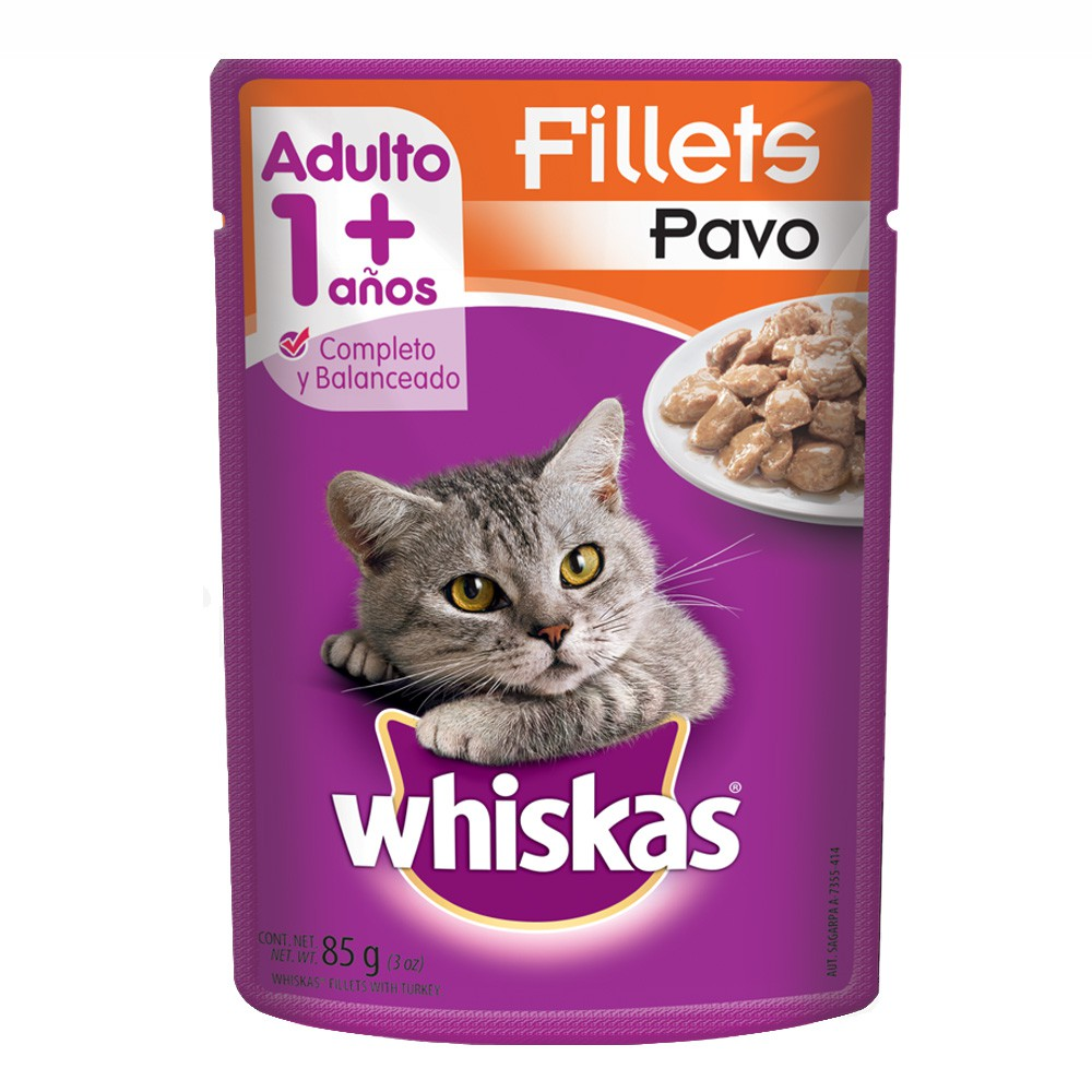 Alimento húmedo para gatos fillets pavo