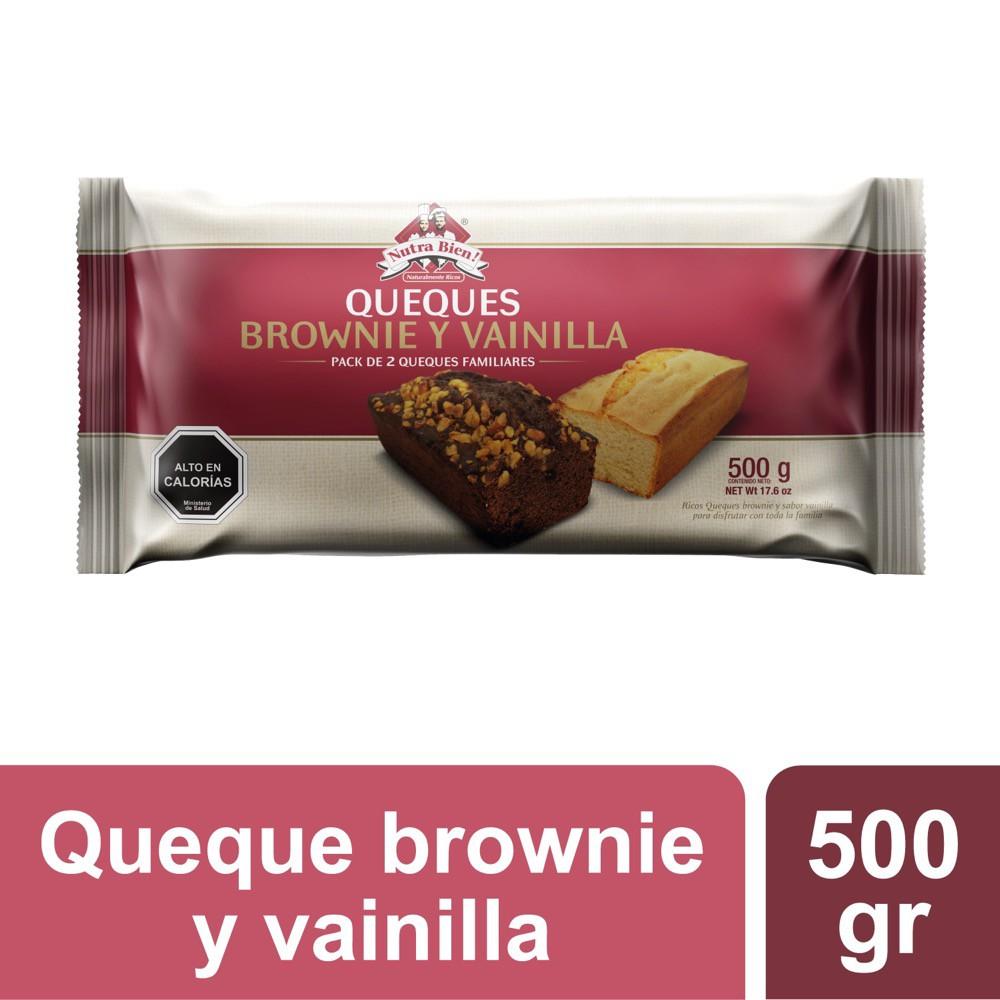 Brownie de chocolate + queque de vainilla