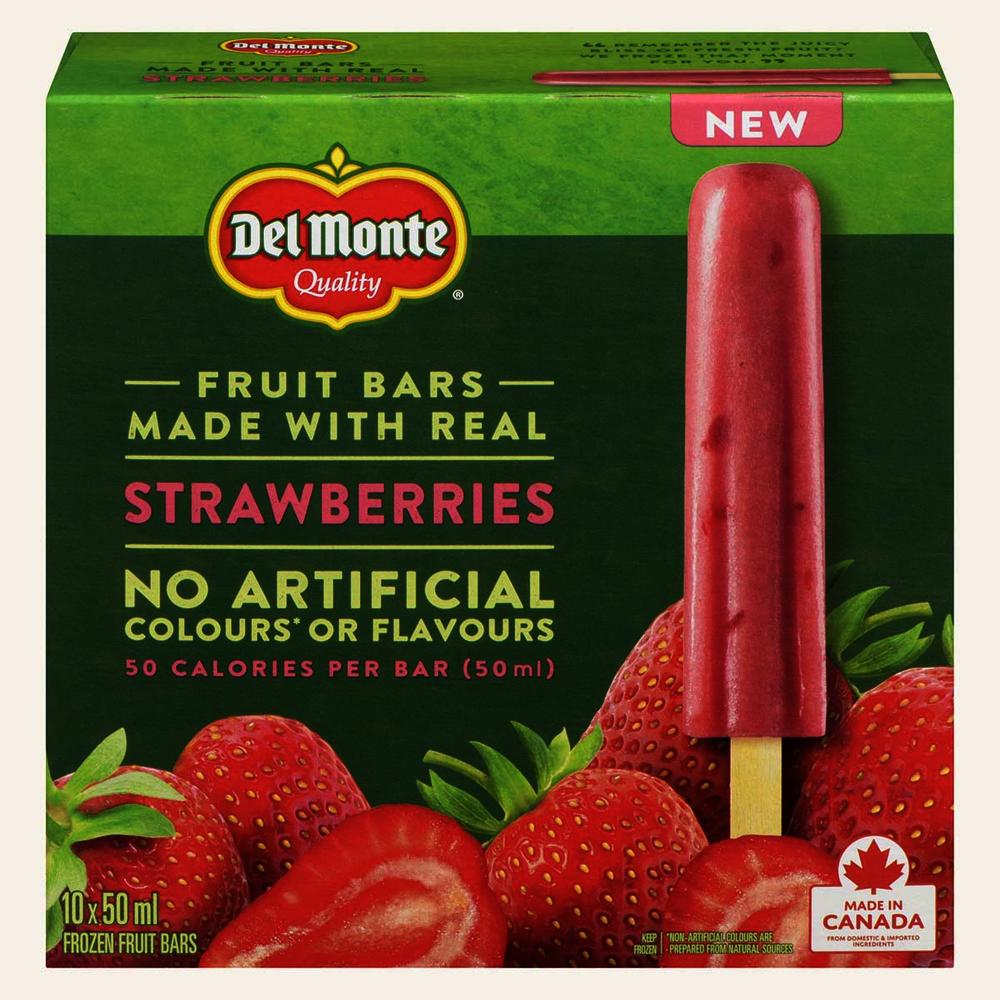 Strawberries fruit bars