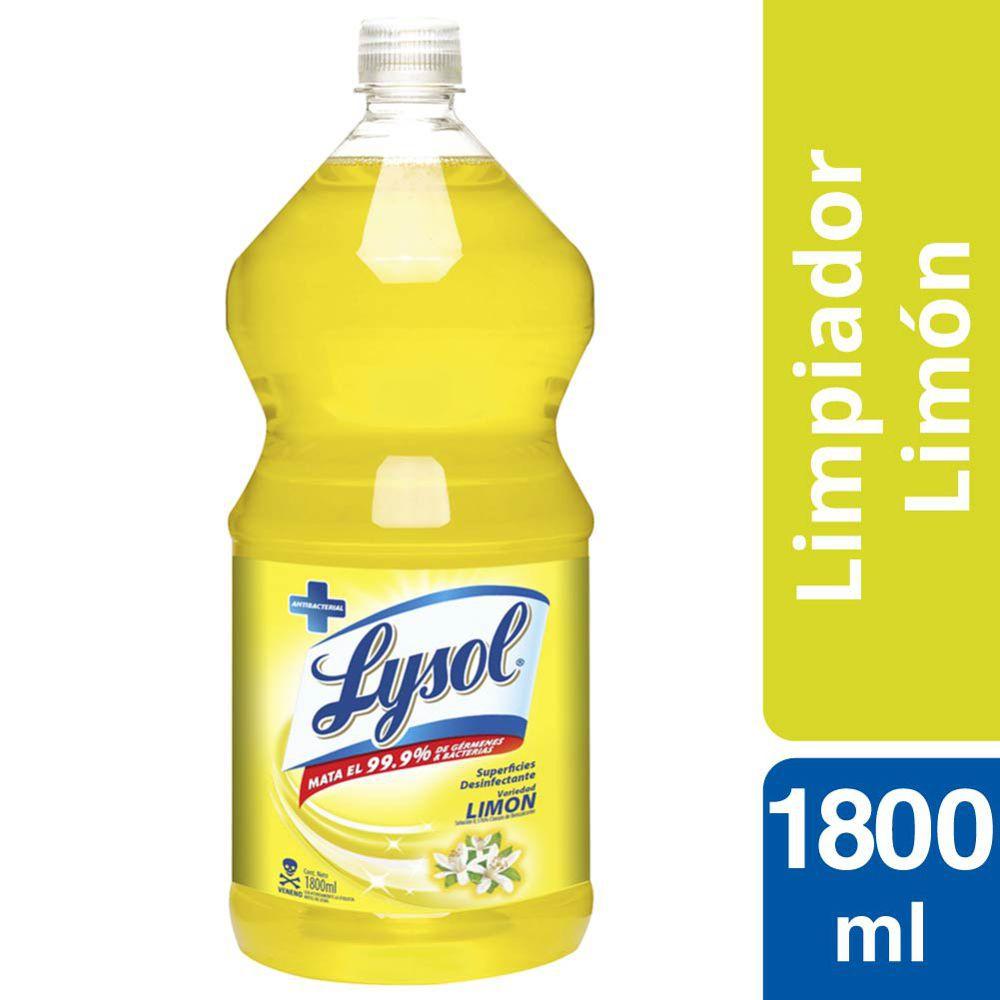 Limpiador líquido de superficies aroma limón