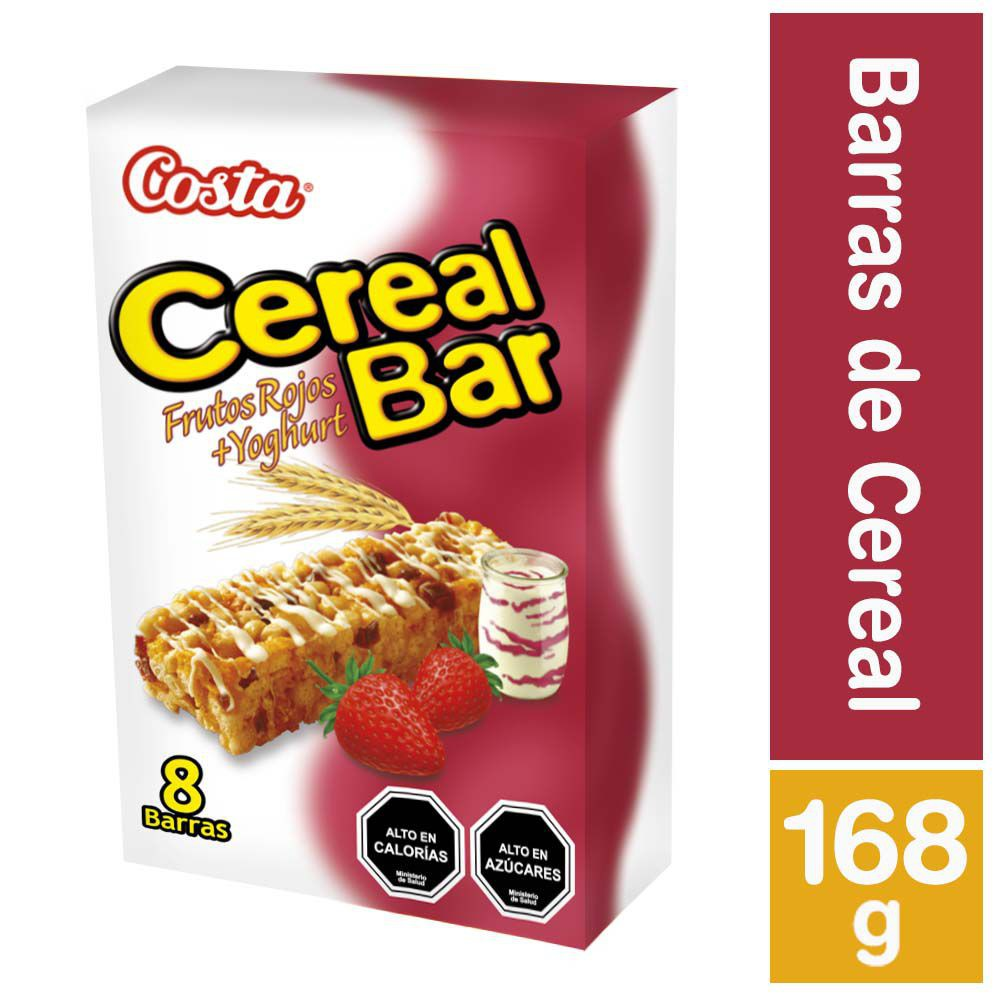 Barra de cereal frutos rojos y yogurt
