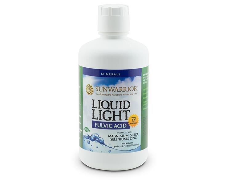 Liquid light mineral fulvic acid
