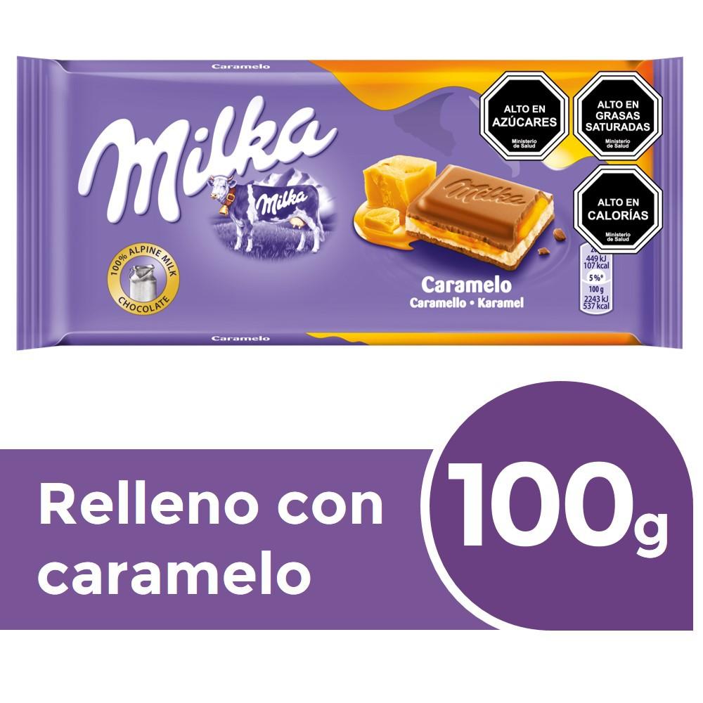 Chocolate de leche relleno con caramelo