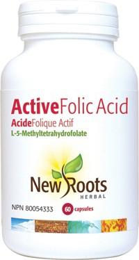Active folic acid capsules 60 units
