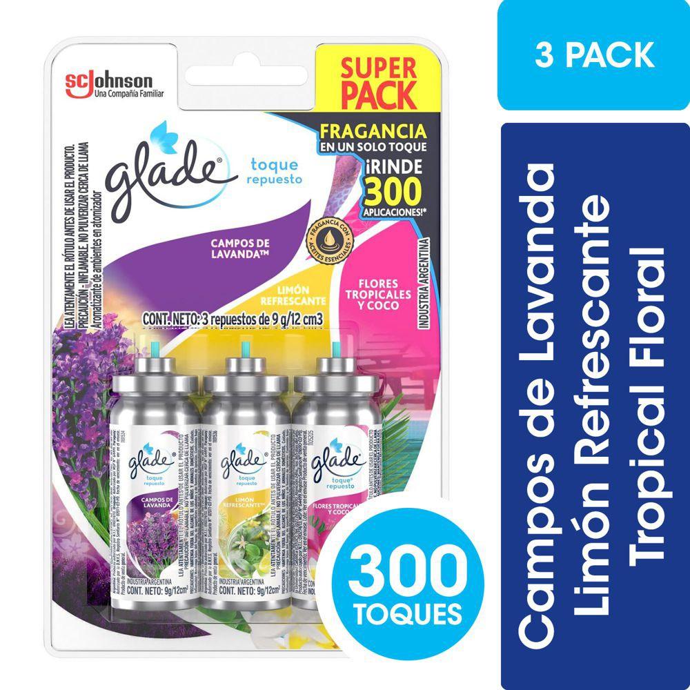 Repuesto desodorante ambiental 3 aromas