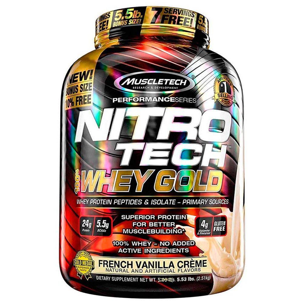 Nitrotech Whey Gold sabor French vainilla crema