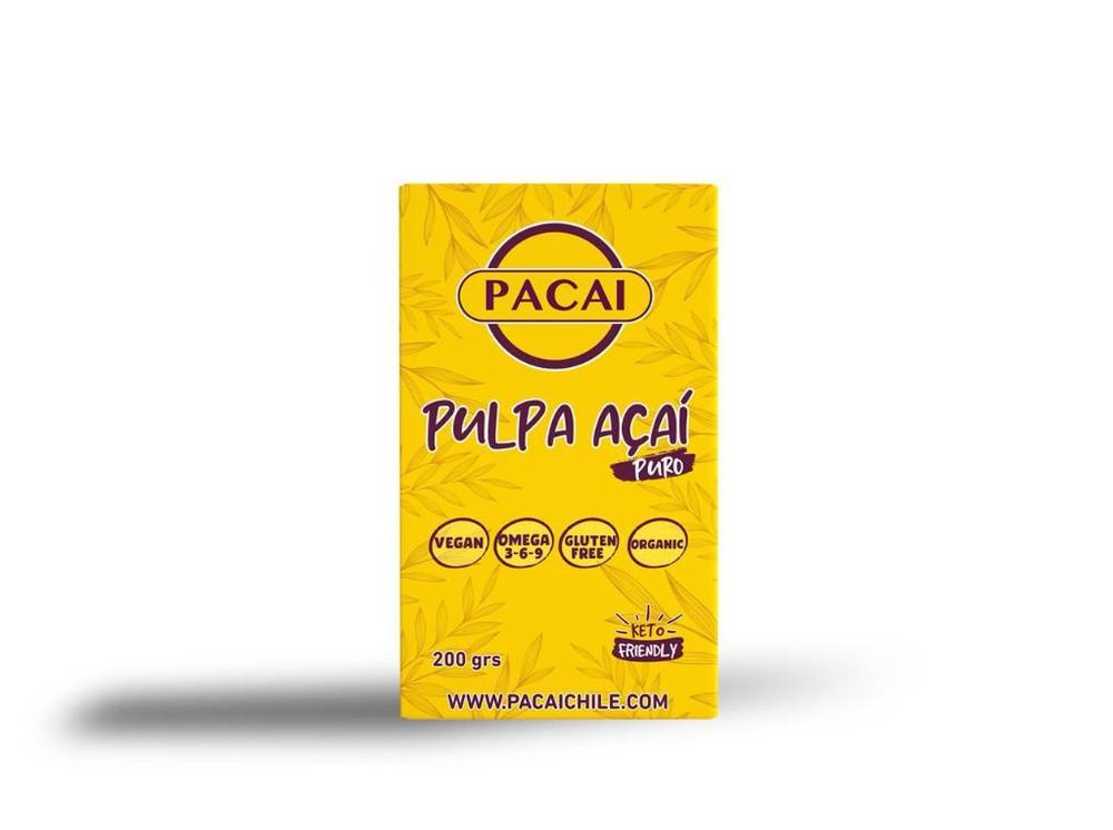Pulpa acaí berry puro, sin glute, sin preservantes, apto para veganos, organico y alto en omega 3-6-9 200 G