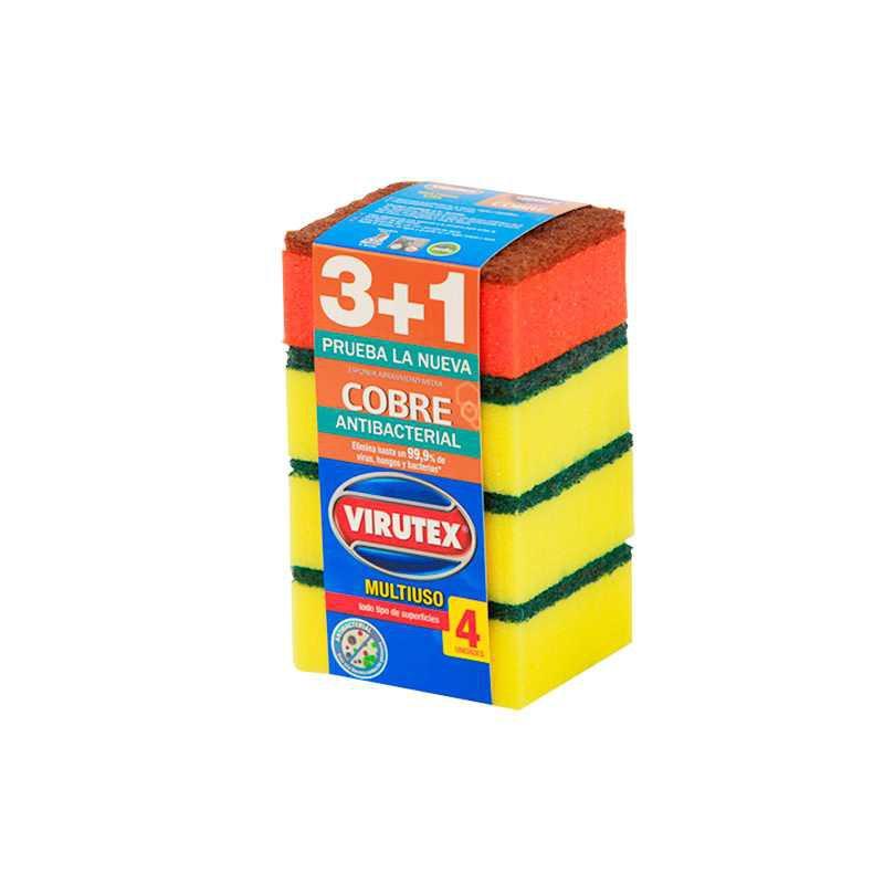 Esponja multiuso lisa 4 un