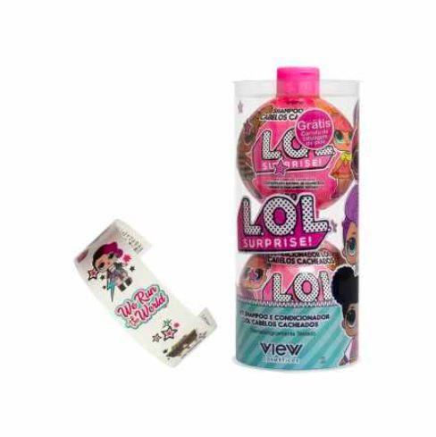 Kit shampoo e condicionador L.O.L cabelos cacheados
