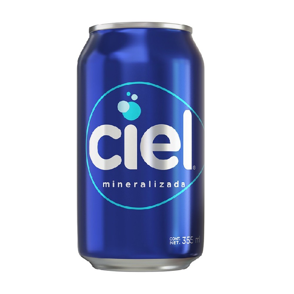 Agua mineralizada en lata
