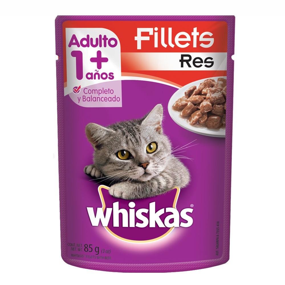Alimento húmedo para gatos fillets res
