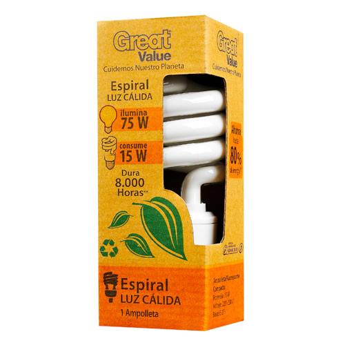 Great Value, Ampolleta Fluorescente Compacta 15W
