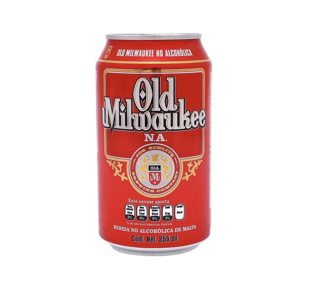 Cerveza americana en lata sin alcohol