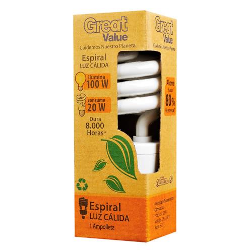 Great Value, Ampolleta Fluorescente Compacta 20W