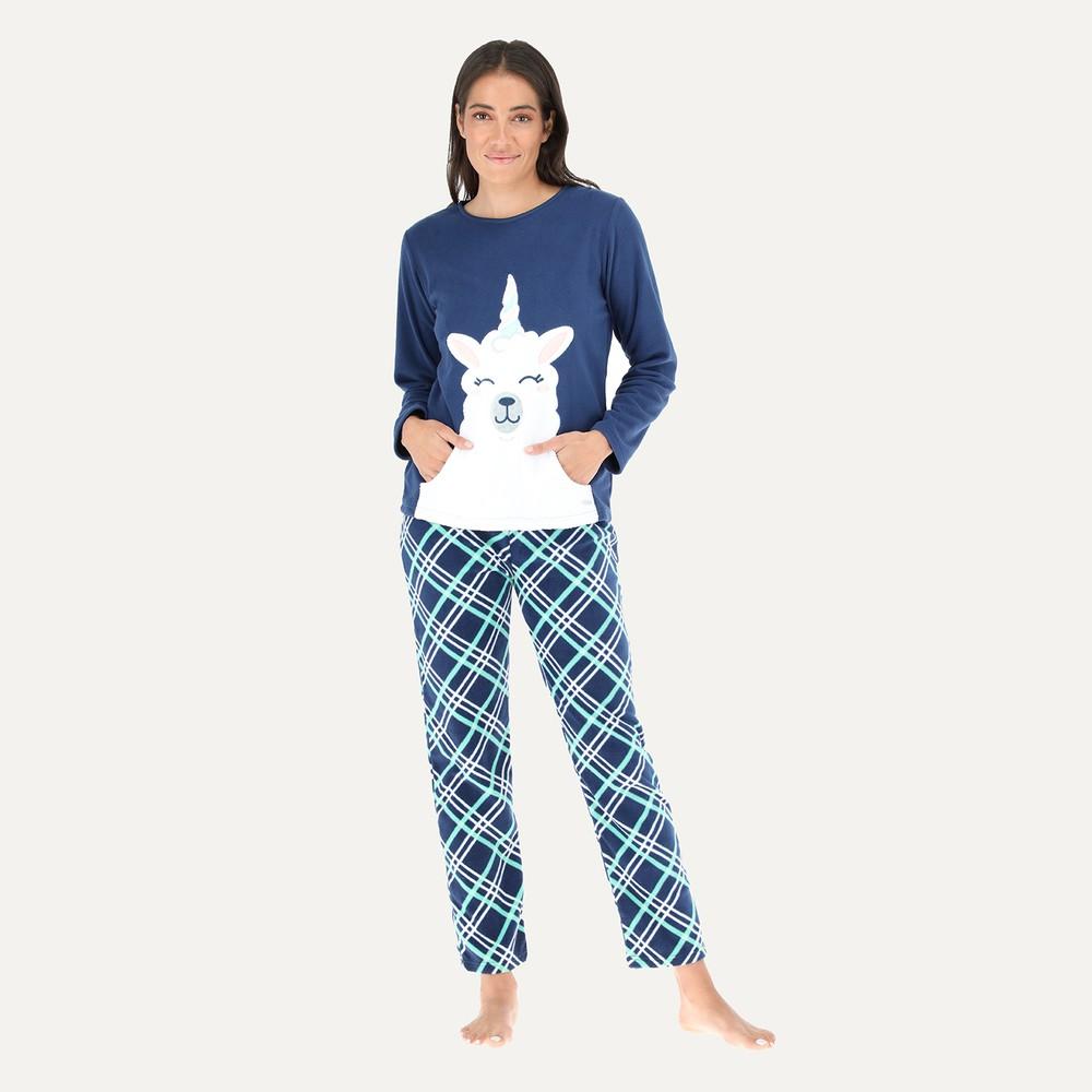 Pijama micropolar cuello alto 32680 m azul