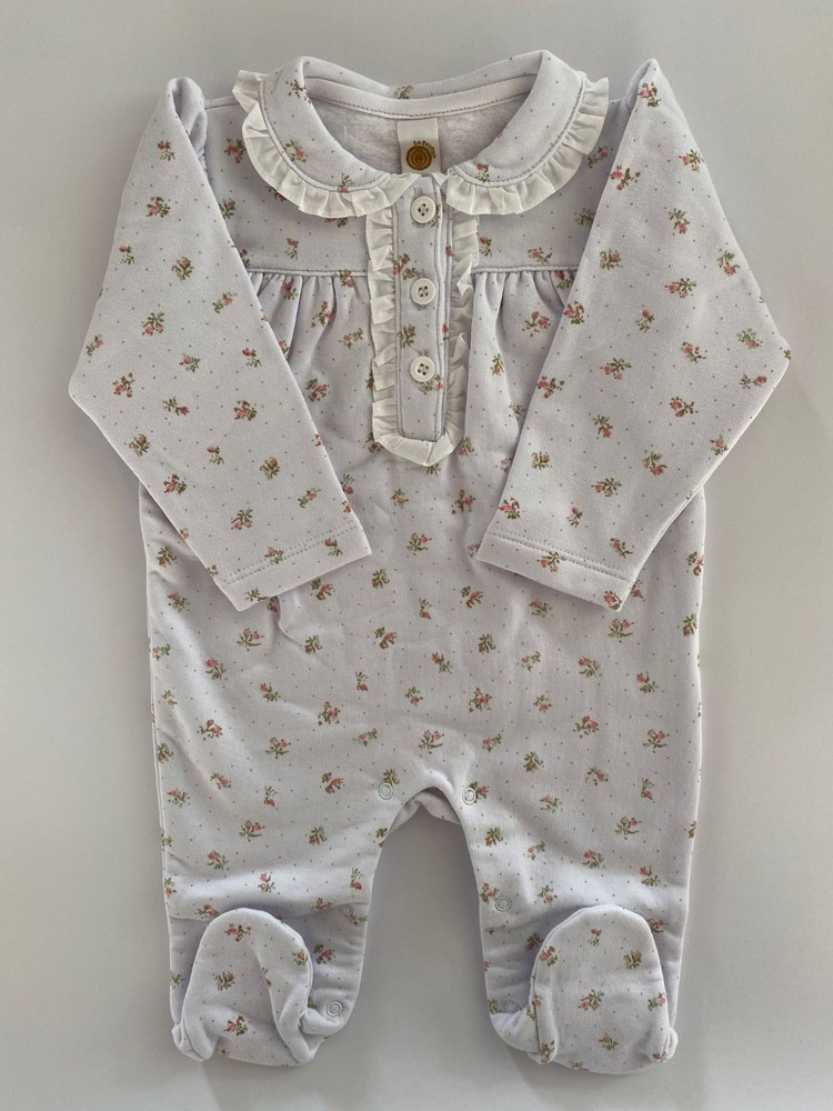 Pijama enterito floreado 3 meses