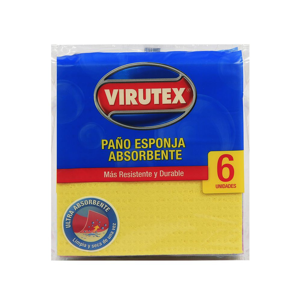 Paño esponja x6 ultra absorbente