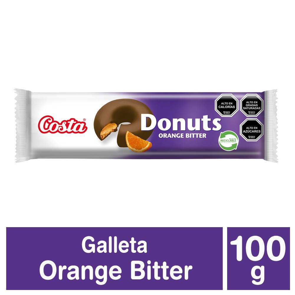 Galletas Donuts sabor naranja bañadas en chocolate