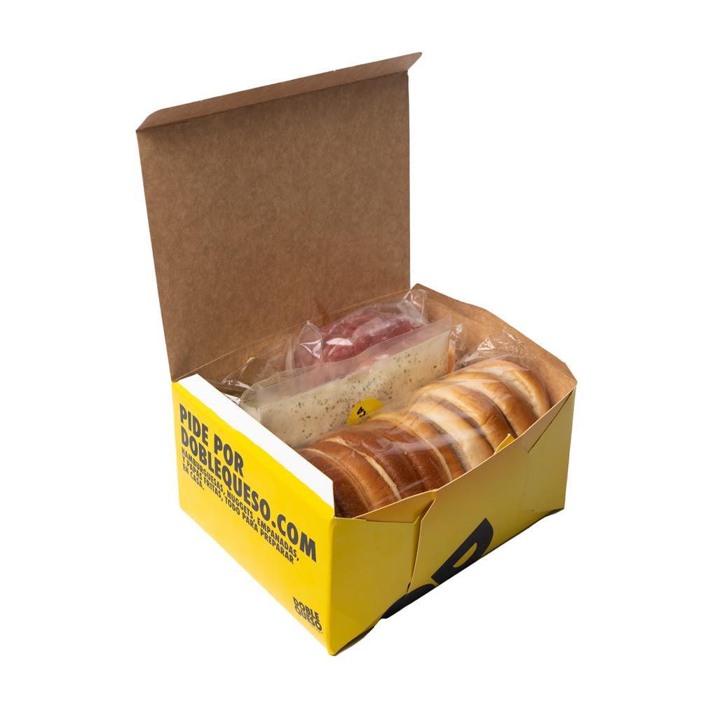 Kit de 5 hamburguesas para preparar Caja 5 un,  800 g