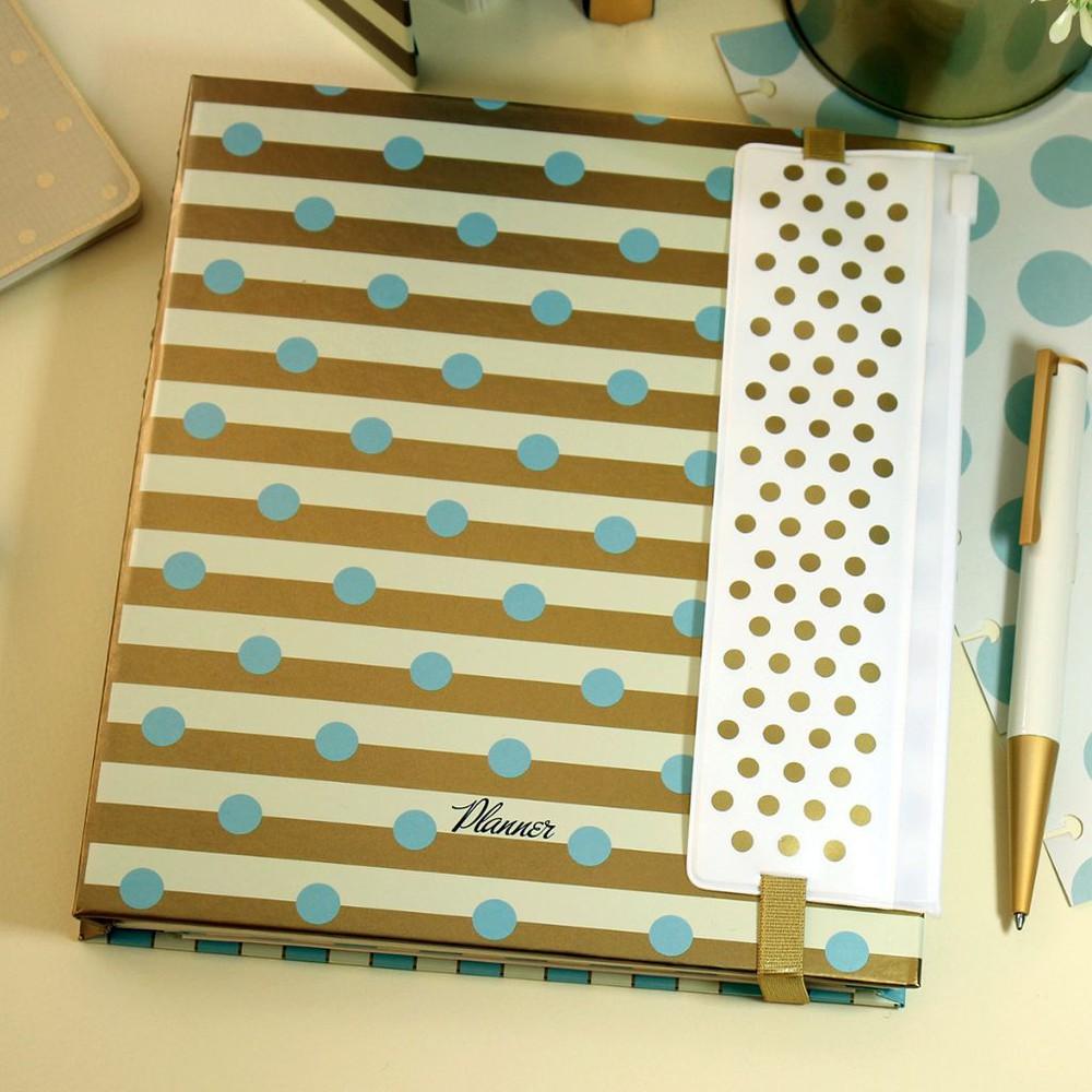 Planner puntos celeste con estuche – semana a la vista – cuaderno