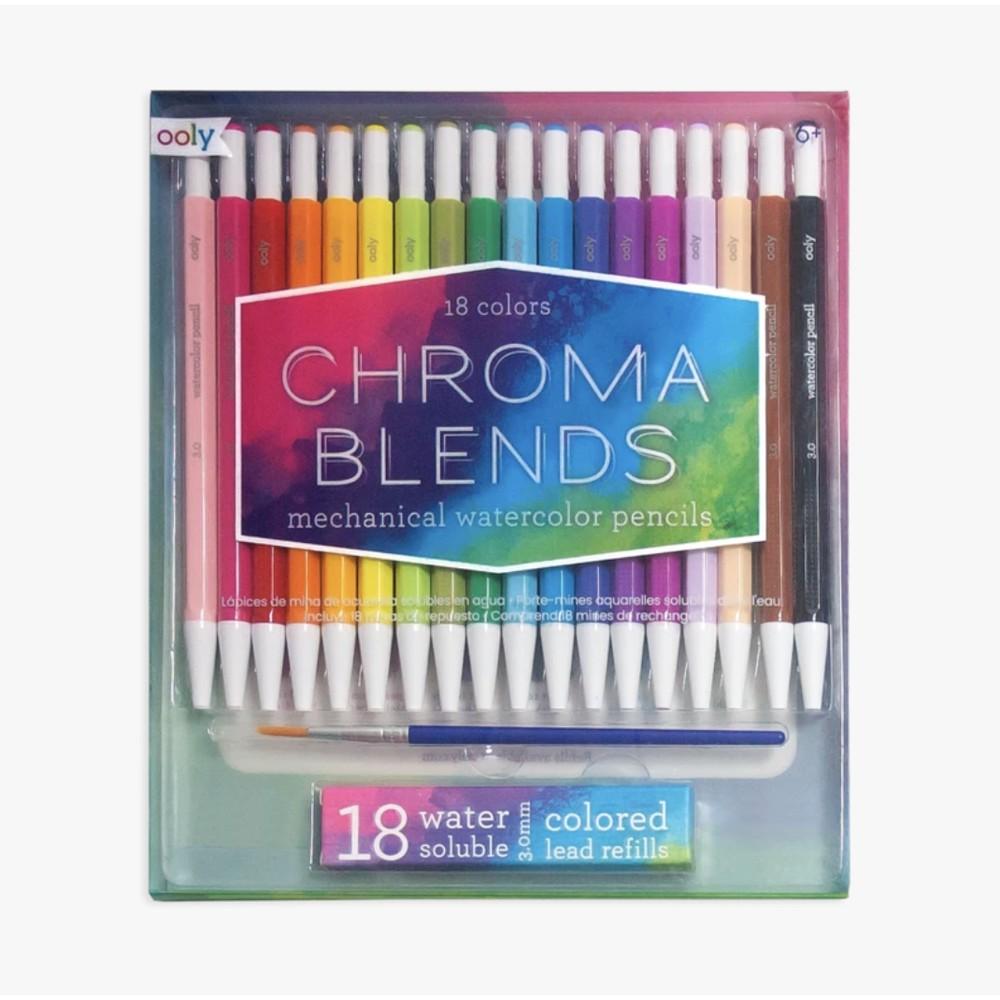 Lápices acuarela chroma blends - set de 18