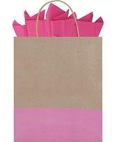 Bolsa regalo mediana kraft café con rosa