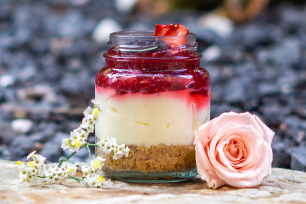 Cheesecake jar de frutos rojos mediano 130 ml