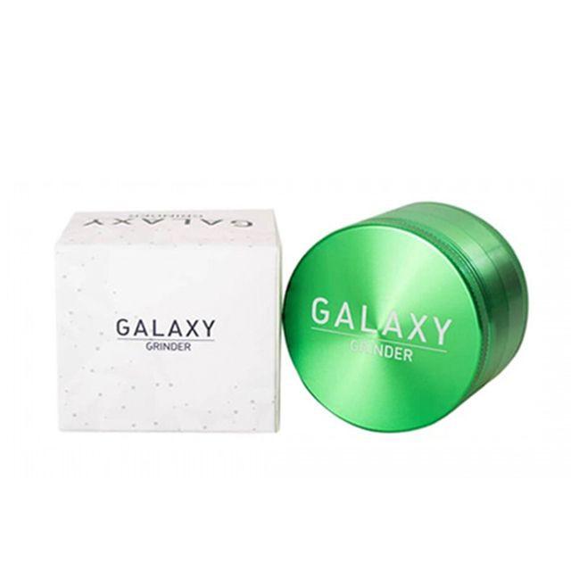 Moledor galaxy aluminio verde 63mm 1 moledor de aluminio 63mm