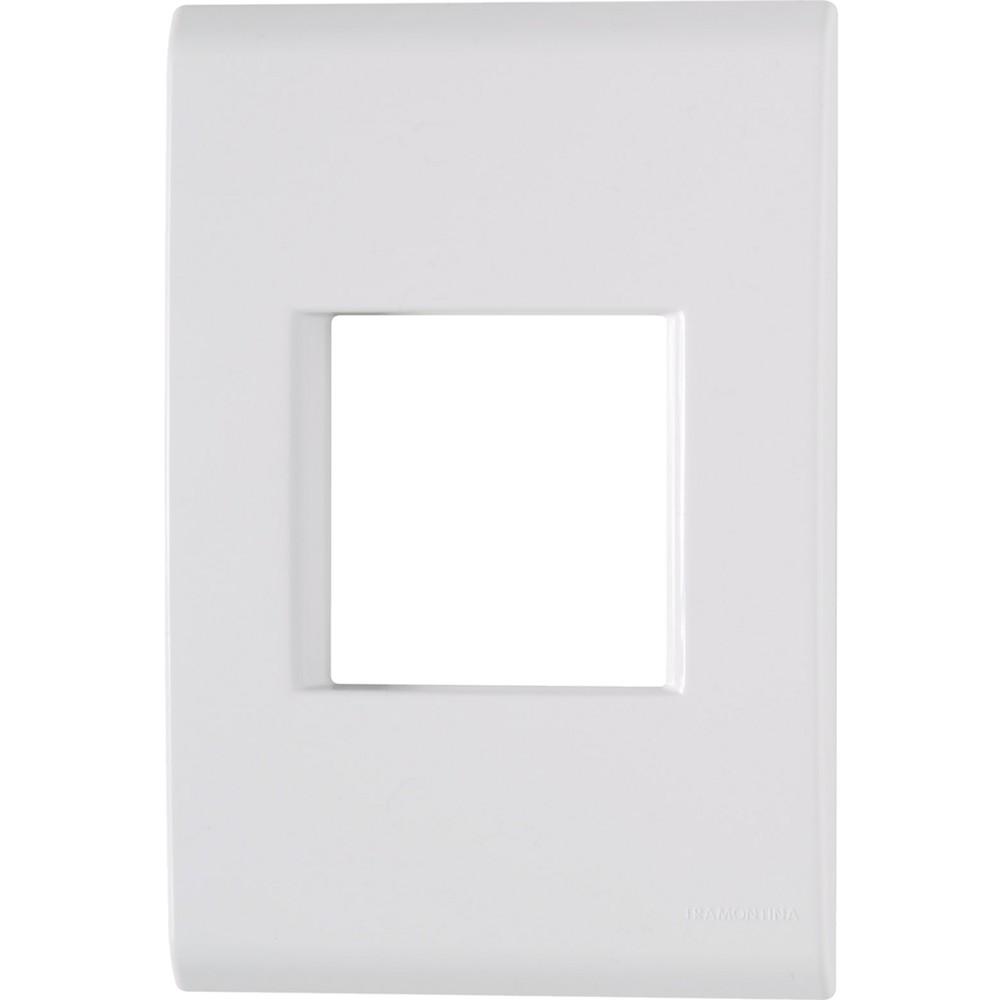 Placa 2 postos juntos 4x2  liz branca