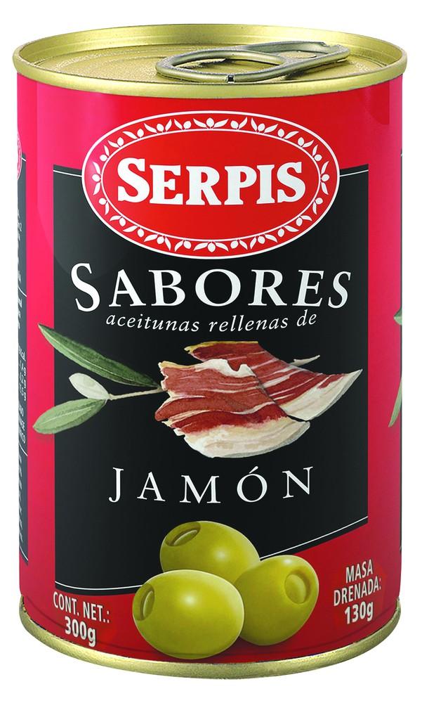 Aceitunas sabores rellenas de jamón serrano