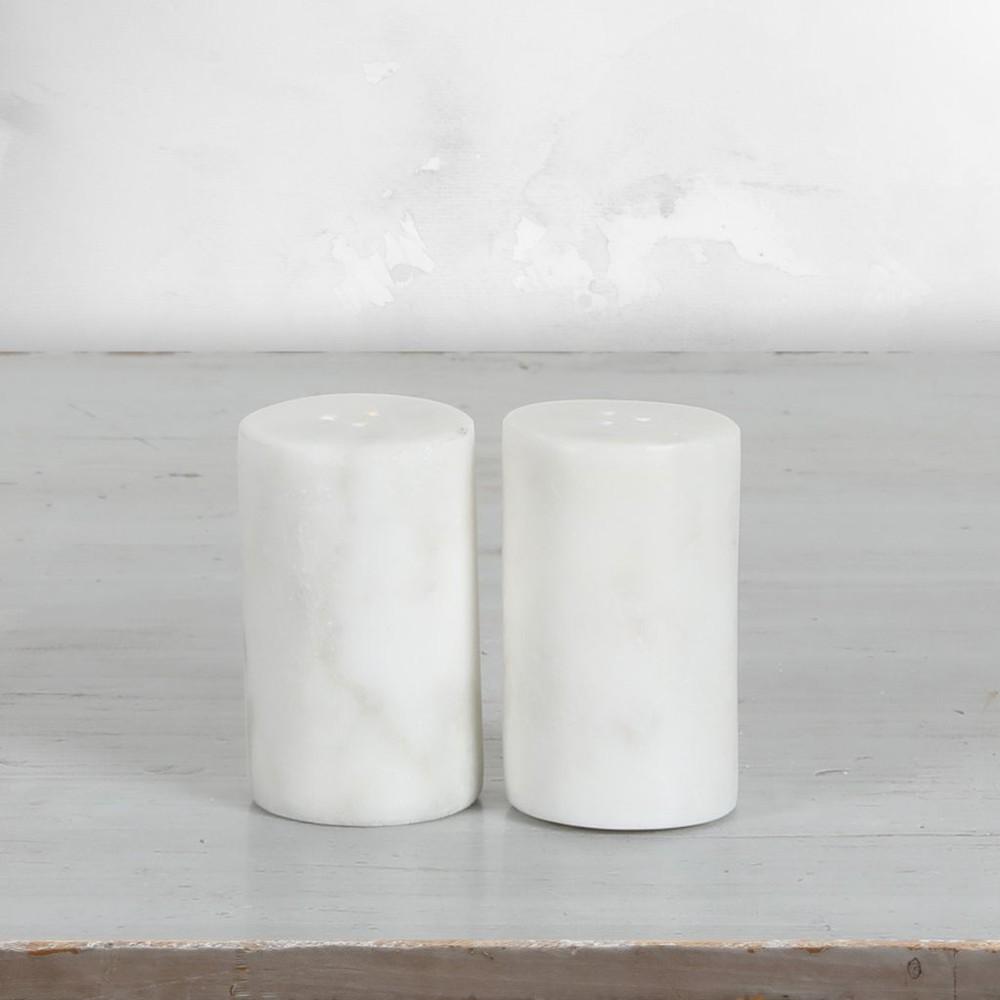 Set de 2 saleros mármol madera 4,5cm * 4,5cm *7,5cm altura