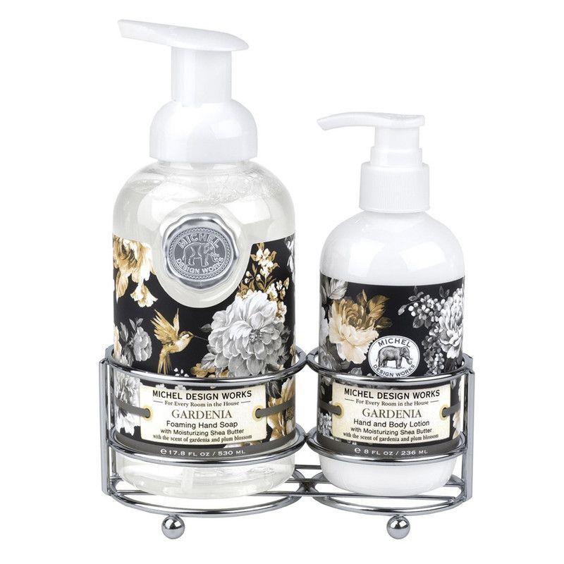 Set jabón y crema gardenia 16cm x 20cm x 9cm
