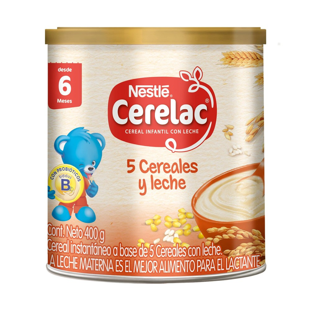Cereal infantil  5 cereales y leche