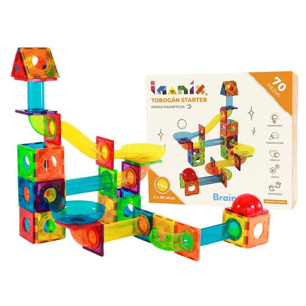Imanix set tobogán, 70 piezas +3años