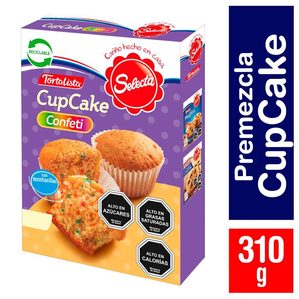 Premezcla Tortalista cupcake confeti