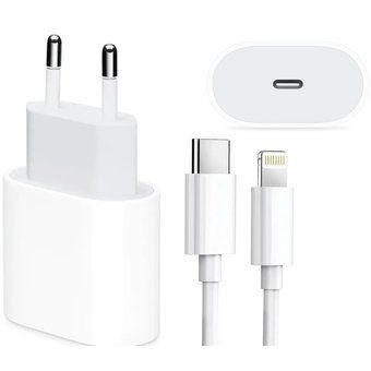 Cargador certificado para iPhone, incluye adaptador 20W y cable USB-c a lightning  para carga/datos. Compatible con iPhone 8 o posterior, iPad Pro (12,9 pulgadas, 3ª generación o posterior) iPad Pro (11 pulgadas) iPad Air (4ª generación) otros dispositivos compatibles con USB-C.