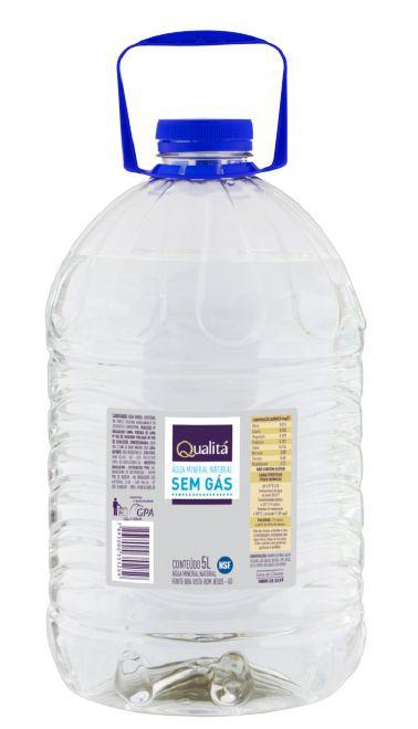 Água mineral sem gás