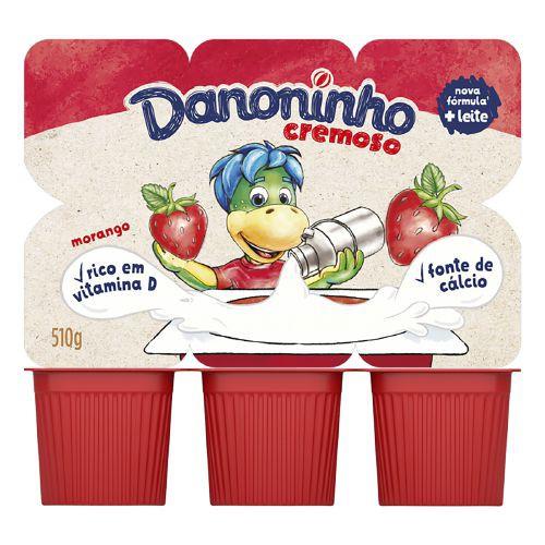Iogurte sabor morango Danoninho
