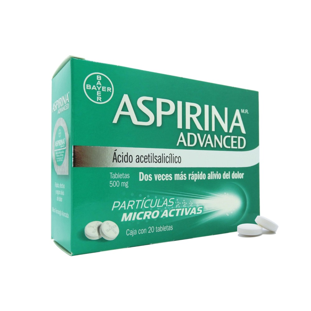 Aspirina advanced tabletas 500 mg