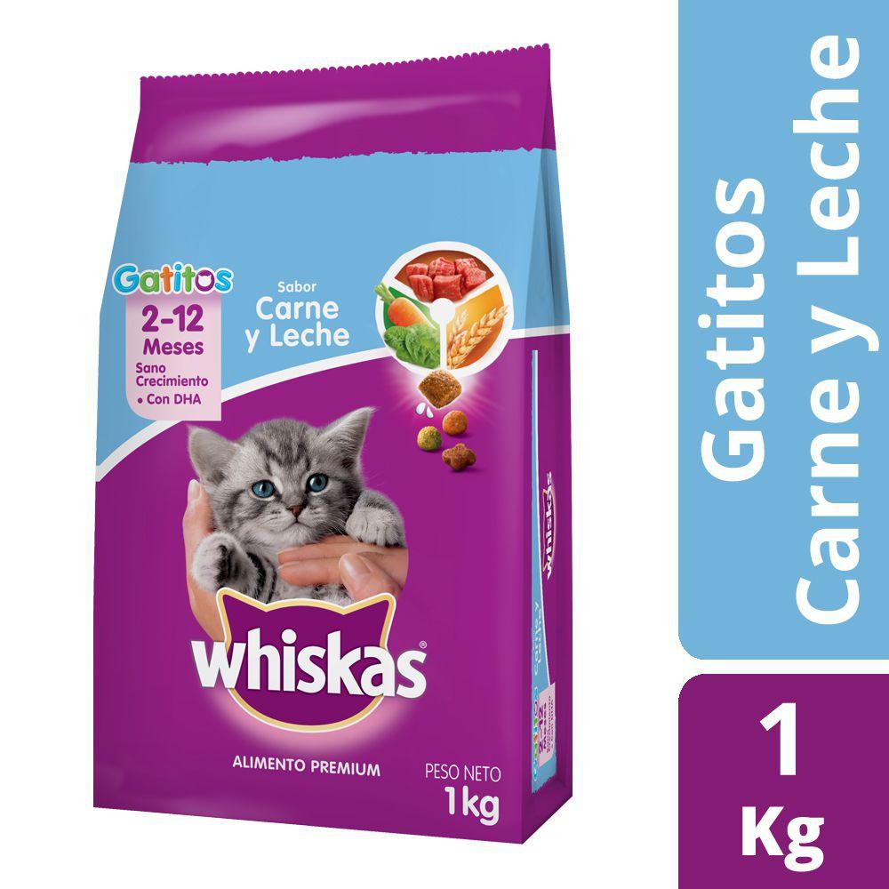 Alimento para gatos sabor carne y leche