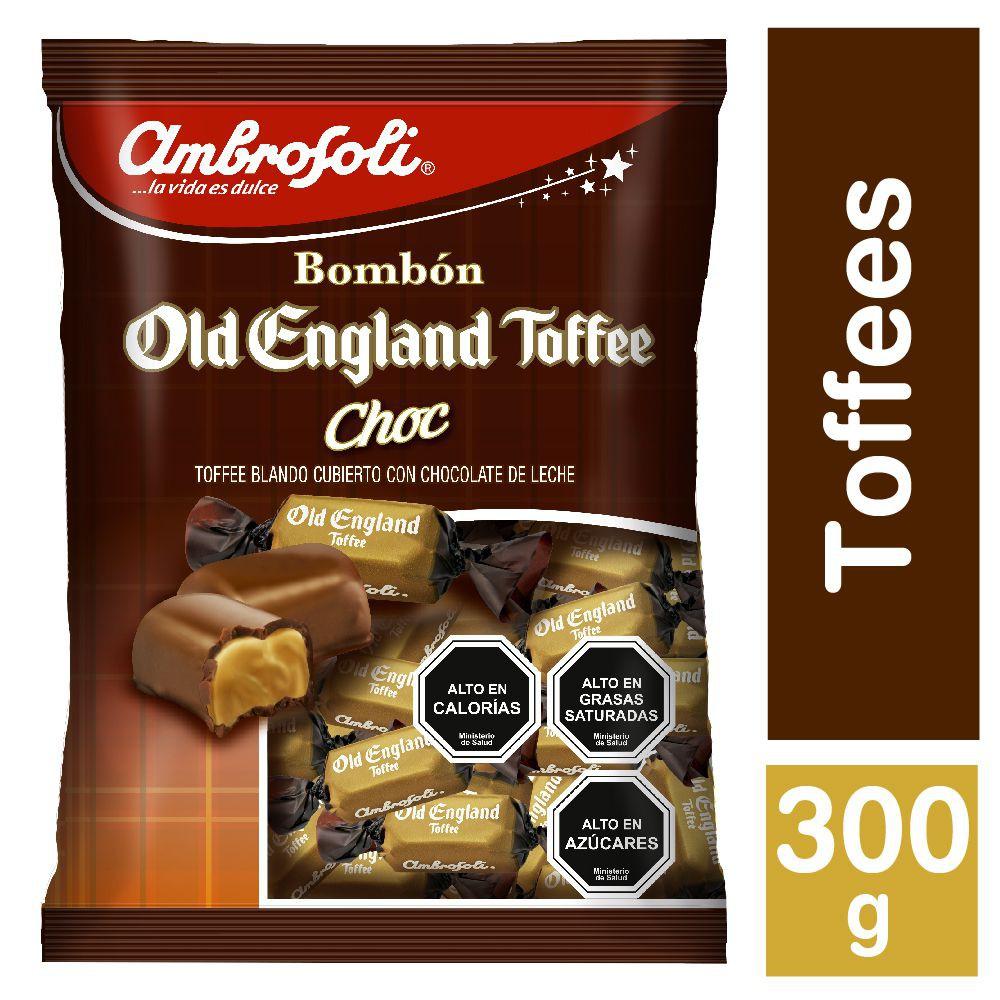 Caramelos Old England toffe bañado en chocolate