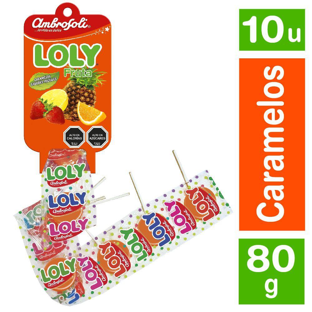 Paleta Loly sabor fruta