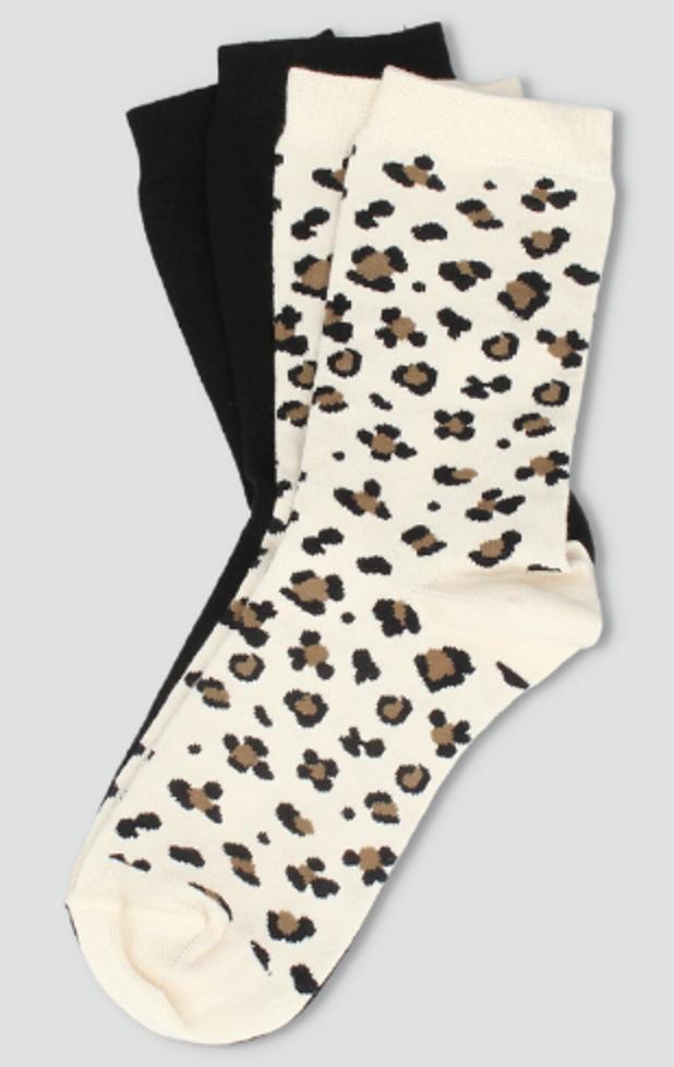 Pack calcetín animal print 2 pares