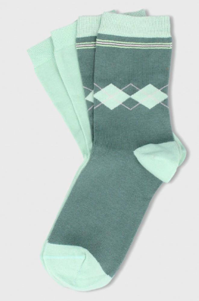 Pack calcetín menta 2 pares