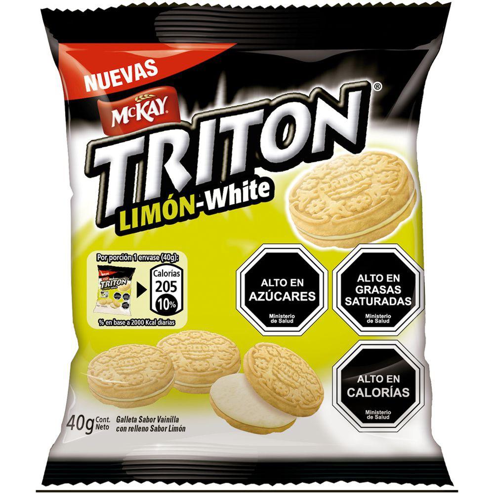 Galleta mini limón white