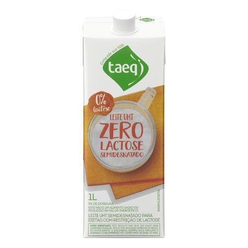 Leite zero lactose semi desnatado