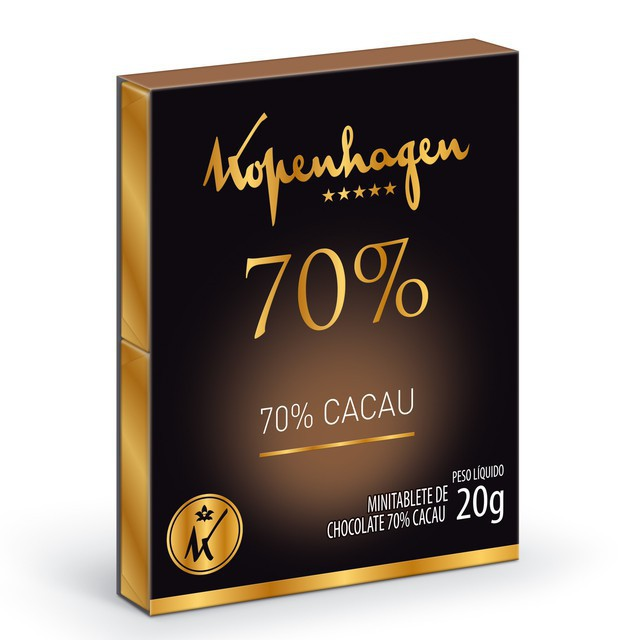 Mini tablete 70% cacau