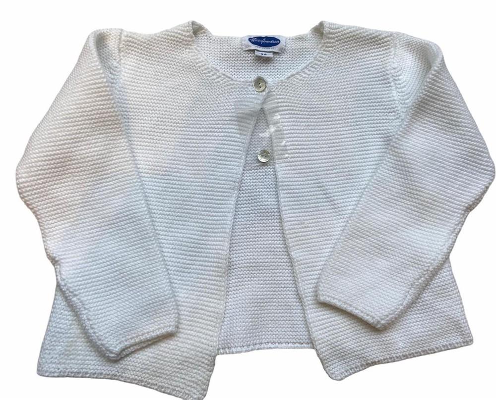 Chaleco algodón blanco 1 botón
