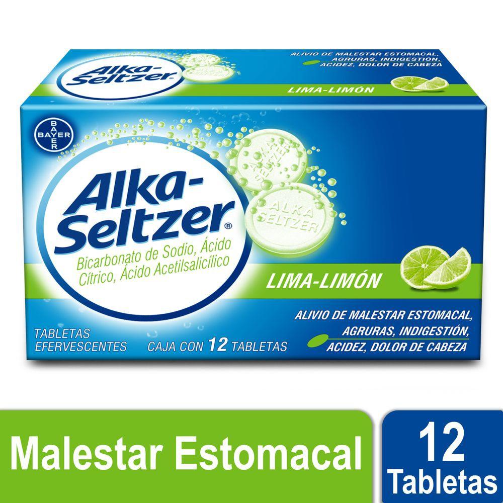 Antiácido sabor lima limón con bicarbonato de sodio, ácidos cítrico y acetilsalicílico