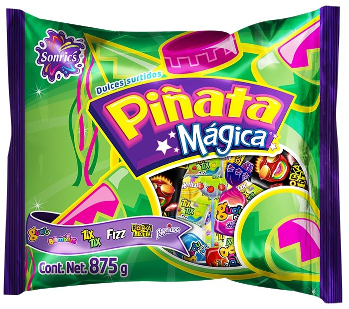 Surtido de dulces piñata mágica